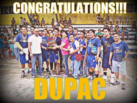 1st Runner up Dupac