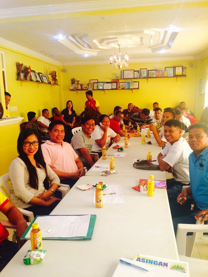 Meeting with the Punong Barangays