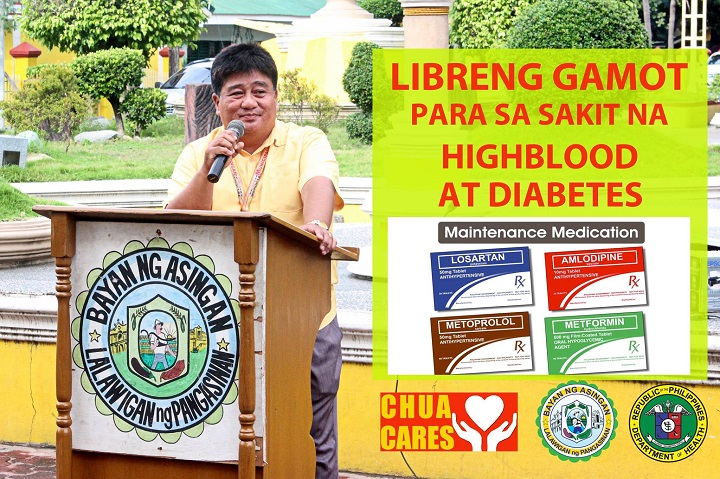 Free medicine for hypertensive and diabetic patients