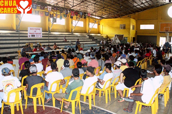 Less than 200 drug users voluntarily surrendered