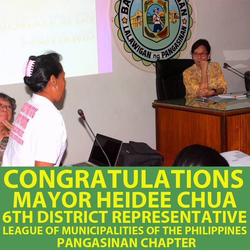 Congratulations to Mayor Heidee Chua for being elected