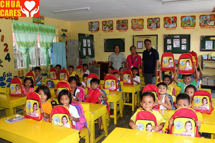 distribution of School Bags and Vitamins to first graders
