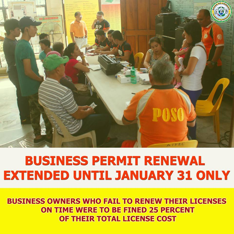 Business permit renewal deadline extended