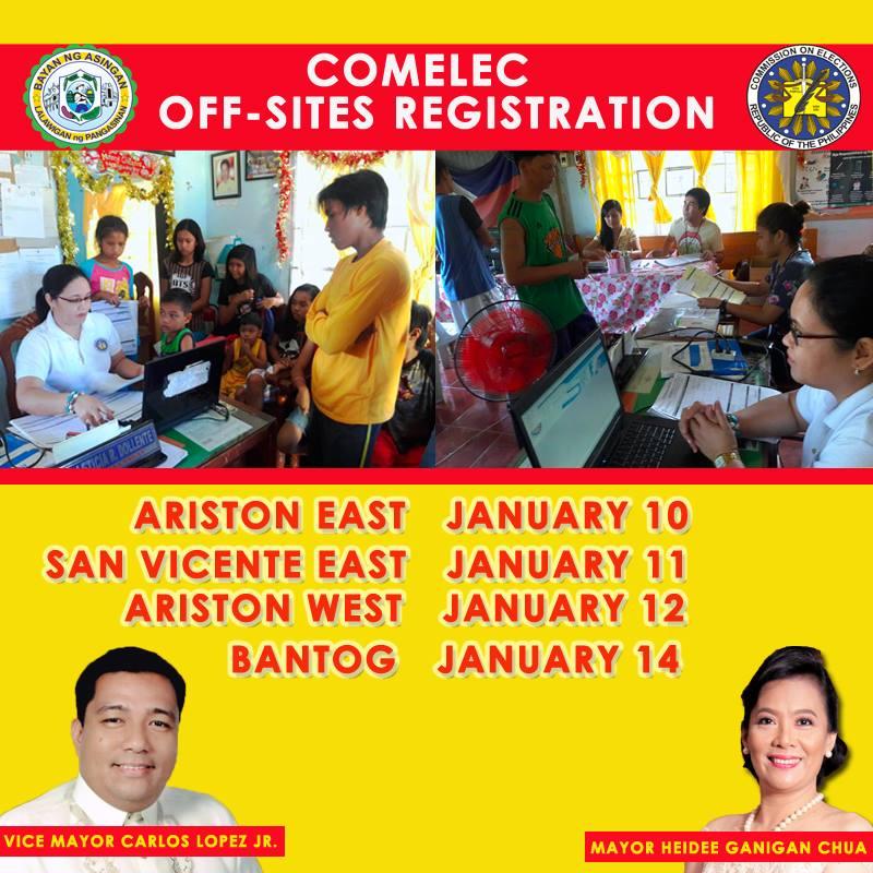 COMELEC Asingan to Intensify Mandatory Satellite Registrations in Barangays