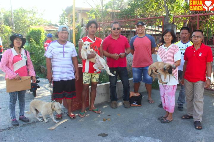 First day of Mass Anti Rabies Vaccination in Barangay Domanpot