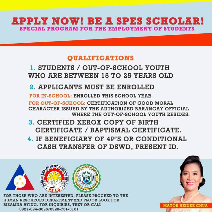 Be a SPES Scholar