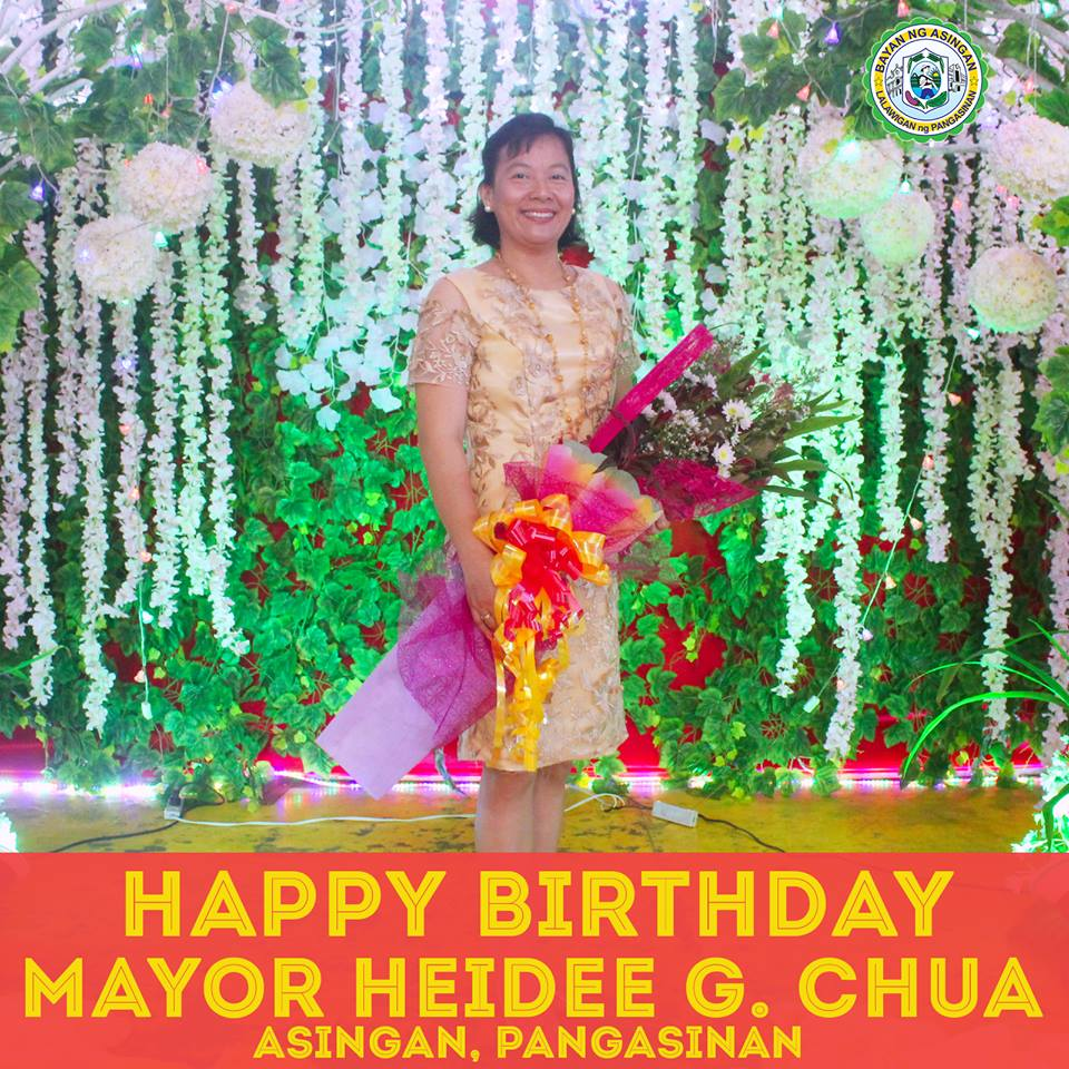 Happy birthday Mayor Heidee Chua