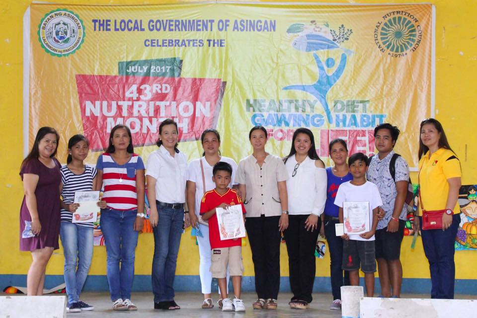Asingan celebrates the 43rd National Nutrition Month 2