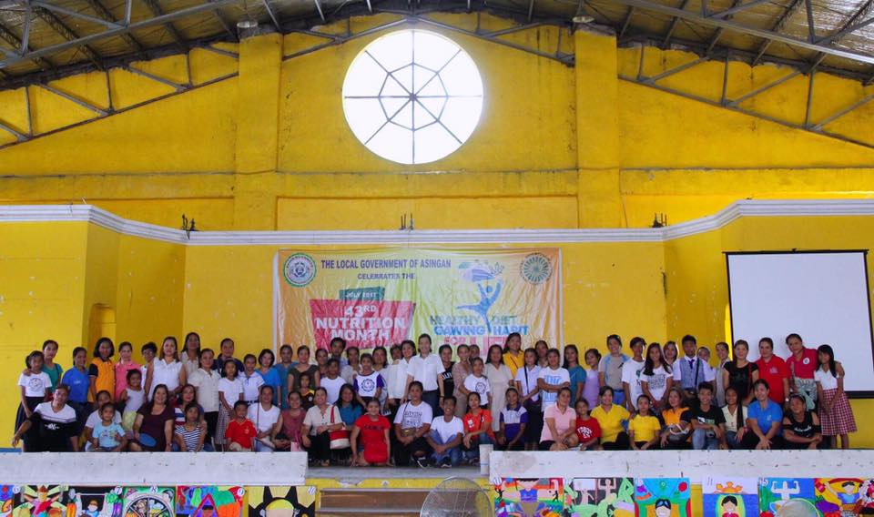 Asingan celebrates the 43rd National Nutrition Month