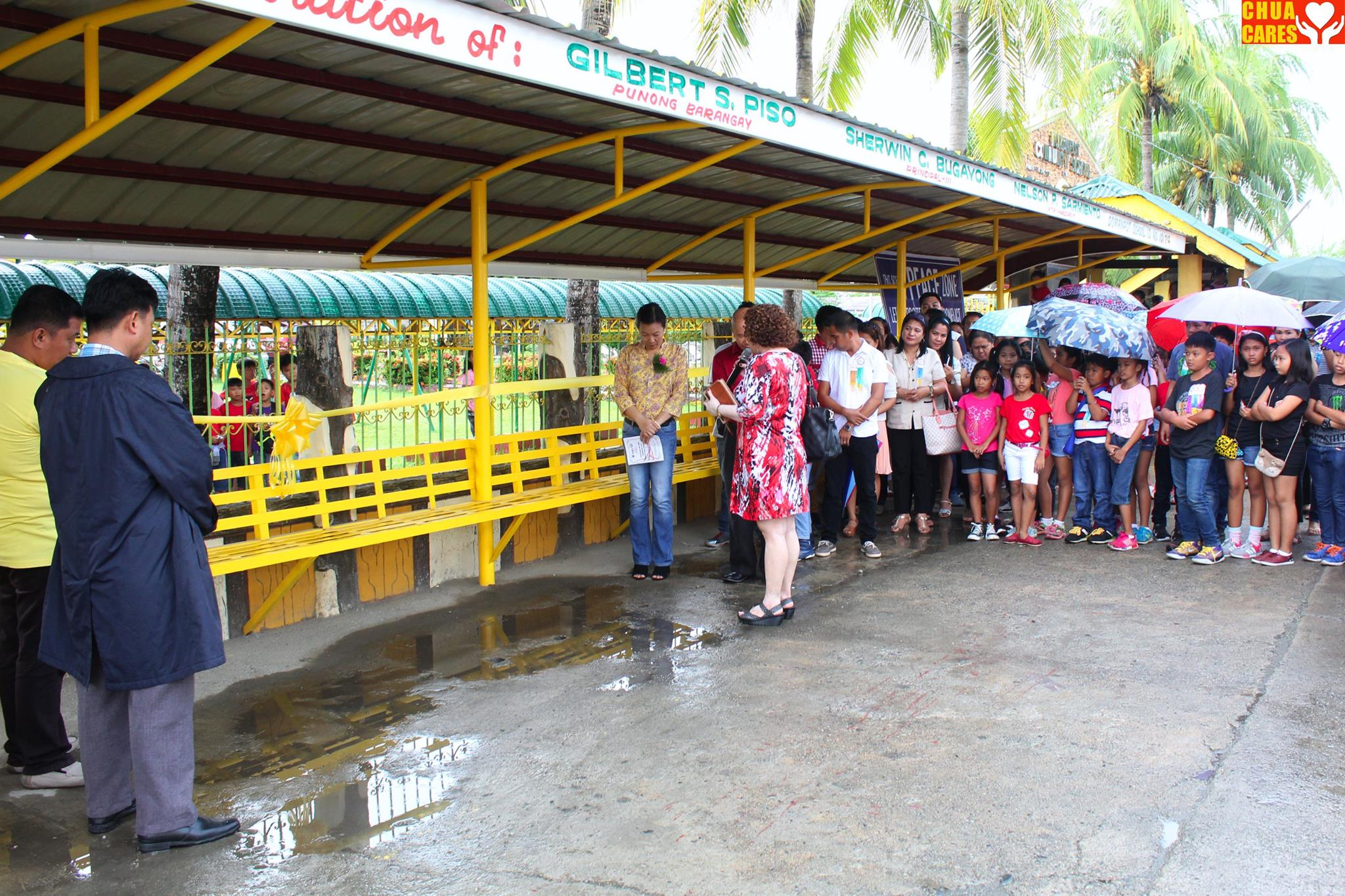 newly constructed steel shed in Barangay Domanpot